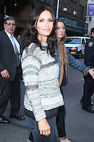 APR 21 Courteney Cox at Late Show NY