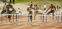 Joanna Hayes winning the 100m hurdles with a time of 12.72sec. at the Jamaica International Invitational Meet on Saturday, May 3rd. 2008. Photo by Errol Anderson, The Sporting Image.