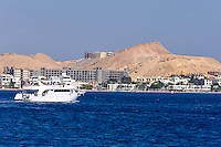 Egypt, Hurghada. Diving and snorkeling trip outisde Hurghada. Hurghada city.