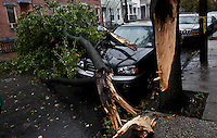 Jersey City after Hurricane Sandy affect New York area , United States. 30/10/2012. Photo by Kena Betancur/VIEWpress.