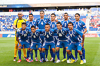 El Salvador starting eleven during a CONCACAF Gold Cup group B match at Red Bull Arena in Harrison, NJ, on July 8, 2013.