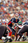 25 September 2005: JP Losman (7), Quarterback for the Buffalo Bills, calls a play during a game against the Atlanta Falcons. The Falcons defeated the Bills 24-16 at Ralph Wilson Stadium in Orchard Park, NY.<br /><br />Mandatory Photo Credit: Ed Wolfstein.