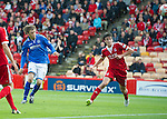 Aberdeen v St Johnstone...31.08.13      SPFL<br /> Murray Davidson puts a good chance over the bar<br /> Picture by Graeme Hart.<br /> Copyright Perthshire Picture Agency<br /> Tel: 01738 623350  Mobile: 07990 594431