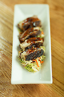 Korean Pork Belly at The Oak Scratch Kitchen and Bourbon Bar in Raleigh, N.C. on Thursday, July 31, 2014. (Justin Cook)