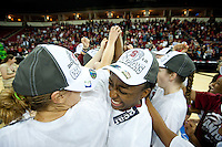 FRESNO, CA--Nneka Ogwumike celebrates with her team a 81-69 win over Duke at the Save Mart Center for the West Regionals Championship of the 2012 NCAA Championships. The Cardinal advances to the Final Four in Denver, facing Baylor in the semifinals.