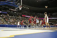 18 March 2006: Eziamaka Okafor, Rosalyn Gold-Onwude, Cissy Pierce and Brooke Smith during Stanford's 72-45 win over Southeast Missouri State in the first round of the NCAA Women's Basketball championships at the Pepsi Center in Denver, CO.