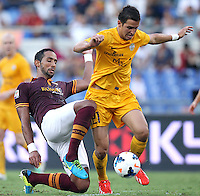 ROME, Italy - September 1, 2013: Roma beats Verona 3-0 during the Serie A match in Olimpico Stadium