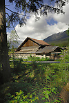 Wooden farm building, Imst district, the Tyrol, Tirol, Austria.