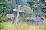 A cross marks a rustic grave in Victoria 20 de enero, a village of former Guatemalan refugees in Mexico who returned home as a group in 1993, while the country's bloody civil war still raged.