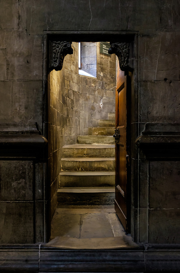 FLORENCE, ITALY - CIRCA MAY 2015: Interior door in the  Florence Cathedral,  Santa Maria del Fiore, known as The Duomo
