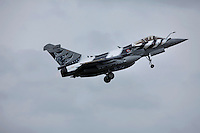 A French Rafale jet fighter takes off. Nato Tiger Meet is an annual gathering of squadrons using the tiger as their mascot. While originally mostly a social event it is now a full military exercise. Tiger Meet 2012 was held at the Norwegian air base Ørlandet.