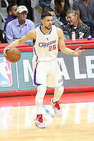 02/22/15 Los Angeles, CA/:Los Angeles Clippers guard Austin Rivers #25 in action against the Houston Rockets during an NBA game played at Staples Center.
