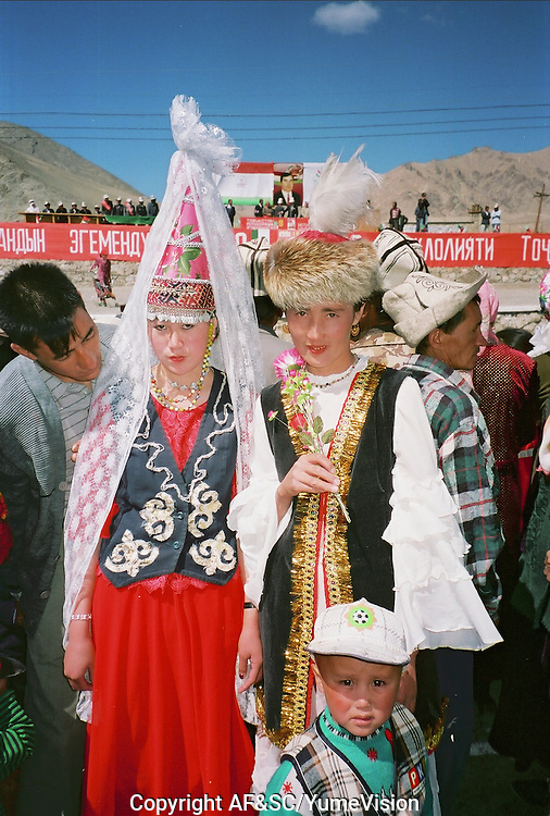 9 September 2001 on the M41 highway, Murghob is celebrating the 10 years of Tadzhik Independency from Soviet Union...The M41 Highway from the Ismaili capital of Khorog to the south capital of Kyrgyzstan - Osh, via the head district of Badakhshan - Murgab and the Akbajtal Pass at 4655 meters.