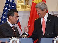 John Kerry and Chinese Foreign Minister Li