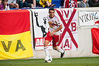 Fabian Espindola (9) of the New York Red Bulls. The New York Red Bulls and the Columbus Crew played to a 2-2 tie during a Major League Soccer (MLS) match at Red Bull Arena in Harrison, NJ, on May 26, 2013.