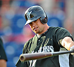 13 March 2008: Florida Marlins' outfielder Brett Carroll warms up prior to a Spring Training game against the Washington Nationals at Space Coast Stadium, in Viera, Florida. The Marlins defeated the Nationals 2-1 in the Grapefruit League matchup...Mandatory Photo Credit: Ed Wolfstein Photo