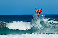 """Coolangatta, Queensland, Australia (Sunday February 13th 2011):    Joel Parkinson (AUS).   SNAPPER SURFRIDERS CLUB have confirmed their status as Australia's premier boardriding club by winning the 2011 Rhythm Kirra Teams Challenge in excellent 1m (3feet) surf at Duranbah Beach on the southern Gold Coast..It was Snapper's 9th win of this prestigious title, placing them well ahead of their closest rival Kirra who placed second..Today's victory was typical of this event, getting down to the very last surfer of their 8 man team to bring the victory home in a nail biting finish..Clint Kimmins was the Snapper surfer with all the pressure placed on him as the final surfer. The equation was simple, win the heat and win the title for Snapper, lose and the title would be won by either Merewether (NSW) or Kirra (Qld)... It was a see-sawing duel between Kimmins and Palm Beach Boardriders surfer Jeff Norris with multiple changes in the lead but in the end Kimmins won by just 0.23 of a point..""""That was the toughest heat I've surfed"""" said a relieved Kimmins after the heat.."""" Surfing for the team, I knew the situation and I just tried to concentrate on surfing my best but the pressure was there - knowing Parko and Deano and the whole rest of the team had done their job to get us to a winning position - it was tough but it feels great now - we're number one club!"""".Snapper's win was incredible as they started the event with 3 consecutive 2nd placings in their 8 surfer team and many thought they were gone in the early stages..However, their final 5 surfers brought home 5 consecutive wins and they stole the title..Their team and heat placing were as follows - Blake Ainsworth (2nd), Mitch Crews (2nd),  Jay Phillips (2nd), Ice Periera-Ryan (1st), Shaun Gossman (1st), Joel Parkinson (1st), Dean Morrison (1st) and Clint Kimmins (1st)... A number of outstanding ASP World Tour and former world tour surfers competed for the pride of their club today, lead by former two time world champion Mi"""
