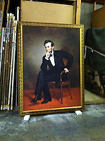 Reproduction of Healy, George Peter Alexander (1813-1894)<br /> Portrait of Abraham Lincoln, 1887. Oil on canvas, 74&quot; x 54&quot;<br /> Location:National Portrait Gallery, Smithsonian Institution, Washington<br /> Reproduction Stretcher Size:  74&quot; x 54&quot; Framed Size 62&quot; x 82&quot; from the National Portrait Gallery