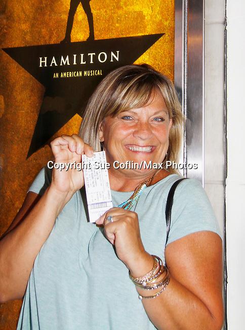 08-21-15 Kim Zimmer sees Hamilton starring Renee Elise Goldsberry