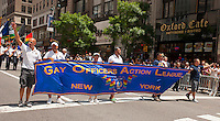 Gay Officers Action League marches in the 43rd annual Lesbian, Gay, Bisexual and Transgender Pride Parade on Fifth Avenue in New York on Sunday, June 24, 2012. The parade took place on the one year anniversary of the legalization of gay marriage in New York.  (© Richard B. Levine)