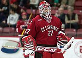 Kyle Hayton (SLU - 27) - The Harvard University Crimson defeated the St. Lawrence University Saints 6-3 (EN) to clinch the ECAC playoffs first seed and a share in the regular season championship on senior night, Saturday, February 25, 2017, at Bright-Landry Hockey Center in Boston, Massachusetts.