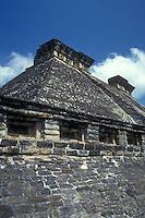 Structure 5 the Totonac ruins of El Tajin, Veracruz state, Mexico. El Tajin is a UNESCO Wold Heritage site.