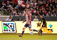 Chivas USA defender forward Justin Braun moves along the siadeling. Sporting KC defeated CD Chivas USA 3-2 at Home Depot Center stadium in Carson, California on Saturday March 19, 2011...