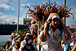 "People attend the traditional ""Silletero"" parade during the Flower Festival in Medellin August 7, 2012. Photo by Eduardo Munoz Alvarez / VIEW."
