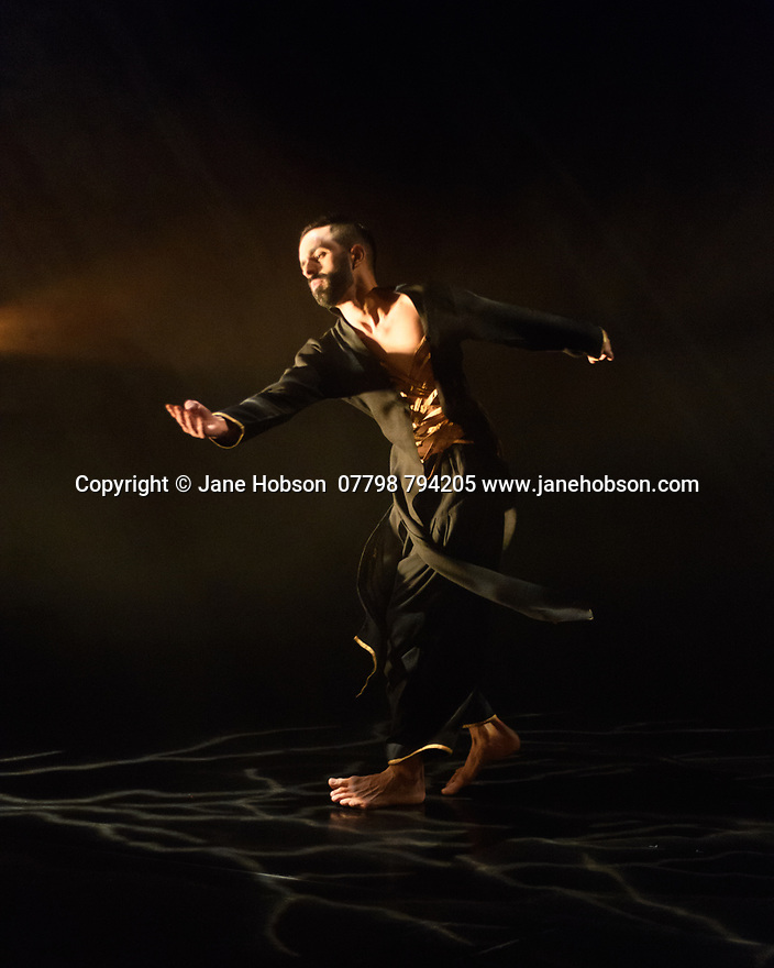 "Kathak dancer, Aakash Odedra, dances ""Echoes"", choreographed by Aditi Mangaldas, in a double bill (alongside ""I Imagine""), in the Lilian Baylis Studio, Sadler's Wells."