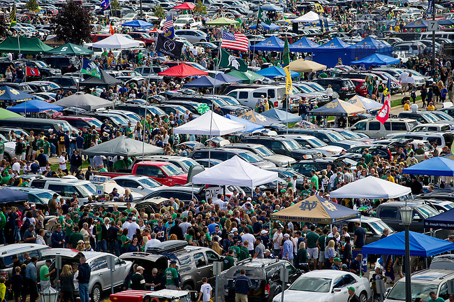 Sept. 21, 2013; Tailgating before a football game. Photo by Matt ...