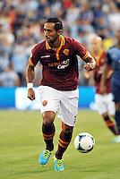 Sporting Park, Kansas City, Kansas, July 31 2013:<br /> Mehdi Benatia (17) defender AS Roma in action.<br /> MLS All-Stars were defeated 3-1 by AS Roma at Sporting Park, Kansas City, KS in the 2013 AT &amp; T All-Star game.