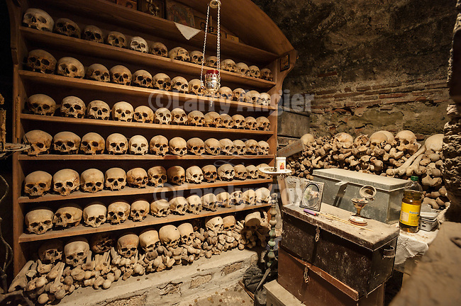 Ossuary of skulls of the Holy Founders, Metamorphosis Monastery (Grand Meteora monastery)Meteora, Greece, XV century