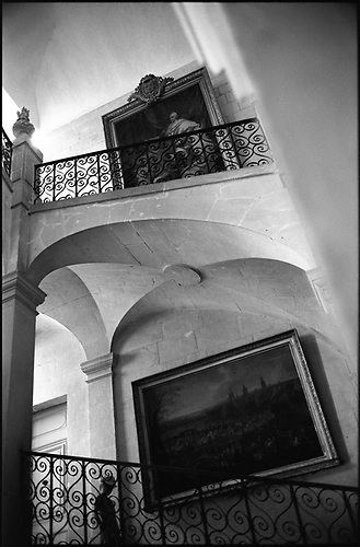 Boy on Staircase, Chateau of Ussé, France by Paul Cooklin