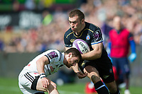 Joe Graham of Bath Rugby in possession. European Rugby Challenge Cup Quarter Final, between Bath Rugby and CA Brive on April 1, 2017 at the Recreation Ground in Bath, England. Photo by: Patrick Khachfe / Onside Images