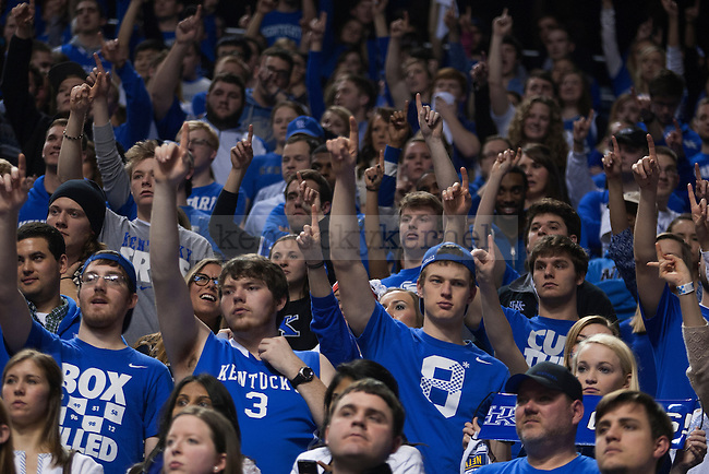 The eruption zone waits for a free throw during the game between the University of Kentucky men's basketball team and University of Florida at Rupp Arena in Lexington, Ky.,on Saturday, February 15, 2014. Photo by Michael Reaves | Staff