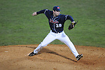 Ole Miss' Brett Huber (38) pitches at Oxford-University Stadium in Oxford, Miss. on Wednesday, March 9, 2010.