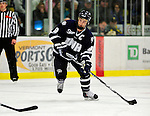 6 December 2009: University of New Hampshire Wildcats' forward Peter LeBlanc, a Senior from Hamilton, Ontario, in action against the University of Vermont Catamounts at Gutterson Fieldhouse in Burlington, Vermont. The Wildcats defeated the Catamounts 5-2 in the Hockey East matchup. Mandatory Credit: Ed Wolfstein Photo