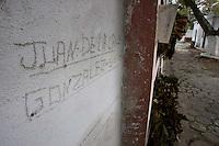 Crypts of street children occupy a mausoleum in a cemetery in Ciudad Vieja, near Antigua.