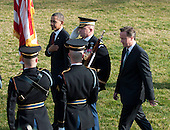 United States President Barack Obama and Prime Minister David Cameron of Great Britain review the troops during the formal arrival ceremony at the White House in Washington, D.C. on Wednesday, March 14, 2012..Credit: Ron Sachs / CNP