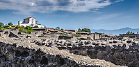 Fine Art Print Photograph of the architectural ruins in Pompeii, near the city of Naples, Italy.<br />