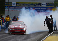 Jun 3, 2016; Epping , NH, USA; NHRA pro stock drover Greg Anderson during qualifying for the New England Nationals at New England Dragway. Mandatory Credit: Mark J. Rebilas-USA TODAY Sports