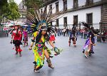 Mexico, Mexico City, Aztec Dancer, Headdress, Penachos, Danza Azteca