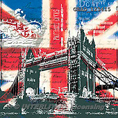 Addy, MODERN,union jack,tower bridge, paintings+++++,GBAD123415,#n#