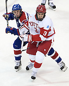 Josh Holmstrom (UML - 12), Ahti Oksanen (BU - 3) - The visiting University of Massachusetts Lowell River Hawks defeated the Boston University Terriers 3-0 on Friday, February 22, 2013, at Agganis Arena in Boston, Massachusetts.