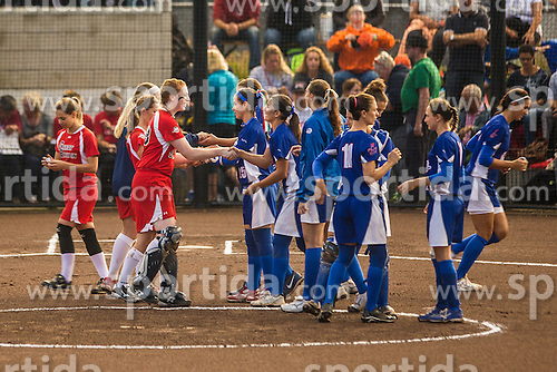 Italy vs Great Britain during XIX European Softball Fastpitch  Championship Women, on July 20, 2015 in Rosmalen,  Netherlands. Photo by Grega Valancic / Sportida