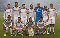 CARSON, CA – August 20, 2011: LA Galaxy starting line-up for the match between LA Galaxy and San Jose Earthquakes at the Home Depot Center in Carson, California. Final score LA Galaxy 2, San Jose Earthquakes 0.