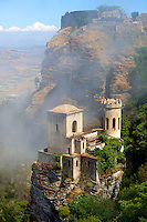 Castello di Vénere [ Venere ] Érice, Erice, Sicily stock photos.