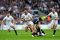 Jonathan Joseph of England goes on the attack. RBS Six Nations match between England and Scotland on March 11, 2017 at Twickenham Stadium in London, England. Photo by: Patrick Khachfe / Onside Images