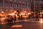 Barcelona, Spain, Old City Plaza