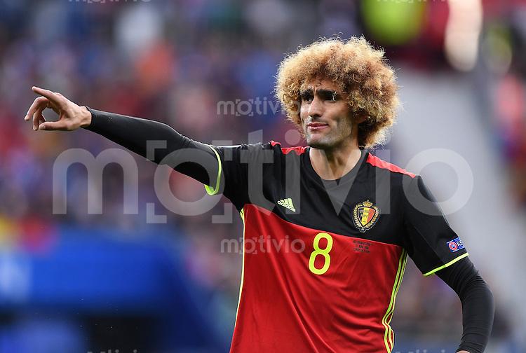 FUSSBALL EURO 2016 GRUPPE E IN LYON Belgien - Italien      13.06.2016 Marouane Fellaini (Belgien)